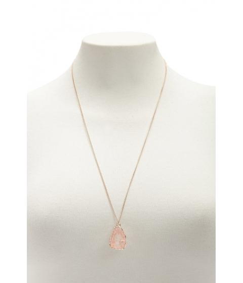 Bijuterii Femei Forever21 Geode Pendant Necklace ROSE GOLD