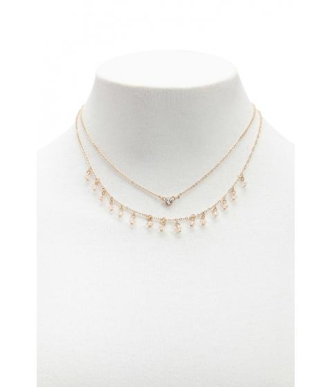 Bijuterii Femei Forever21 Layered Choker Charm Necklace GOLD