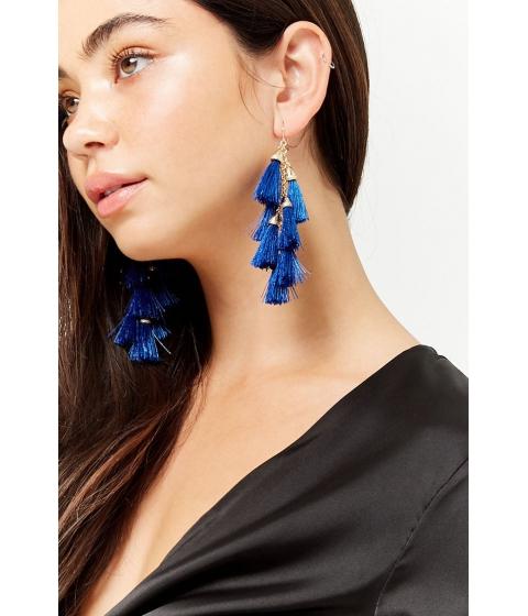Bijuterii Femei Forever21 Fringe Drop Earrings BLUE
