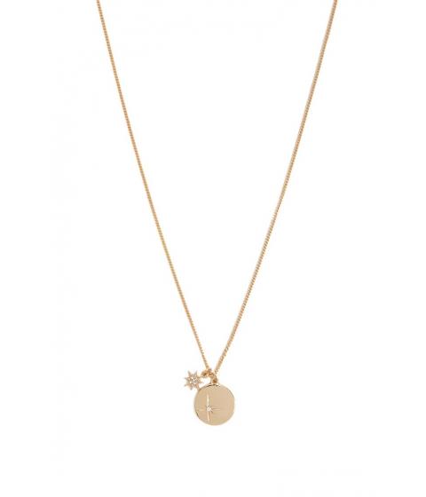 Bijuterii Femei Forever21 Rhinestone Disc Necklace GOLD