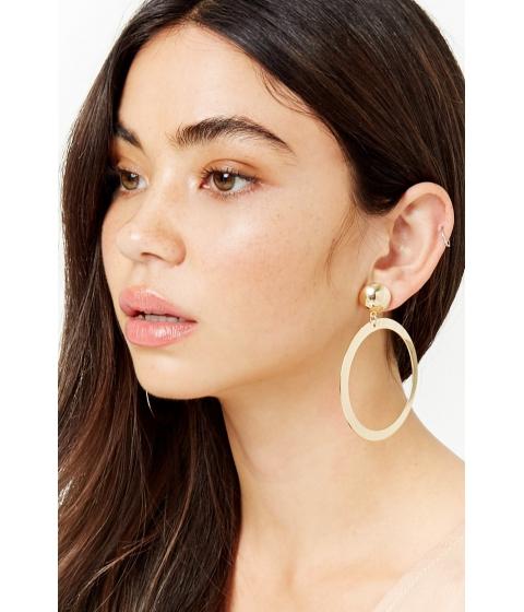 Bijuterii Femei Forever21 Plated Oval Drop Earrings GOLD