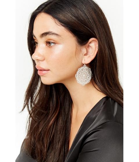 Bijuterii Femei Forever21 Cutout Disc Drop Earrings SILVER