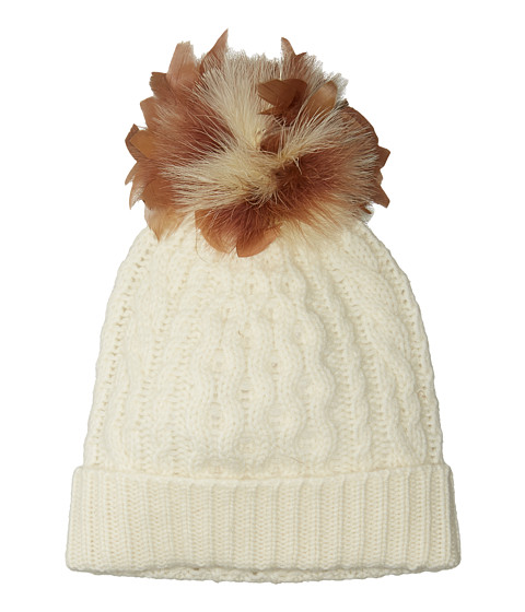 Accesorii Femei Polo Ralph Lauren Feather Pom Cashmere Blend Hat Collection Cream