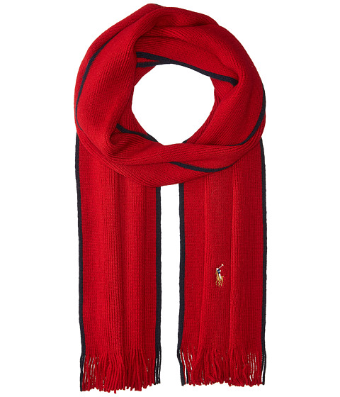 Accesorii Barbati Polo Ralph Lauren Classic Lux Merino Wool Scarf Carriage Red