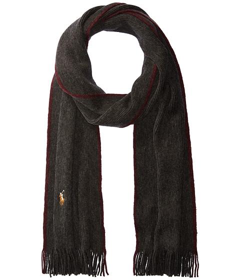 Accesorii Barbati Polo Ralph Lauren Classic Lux Merino Wool Scarf Dark Granite HeatherItalian Red