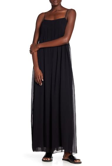 Imbracaminte Femei Vince Pintucked Silk Slip Maxi Dress BLACK