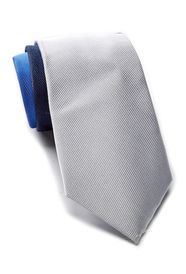 Accesorii Barbati Tommy Hilfiger Silk Tri-Color Panel Tie CADET BLUE