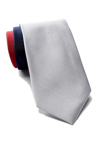 Accesorii Barbati Tommy Hilfiger Silk Tri-Color Panel Tie RED