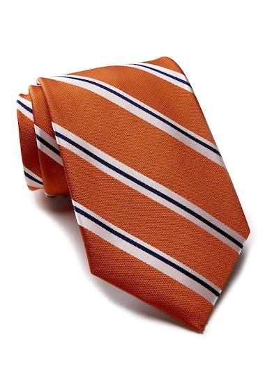 Accesorii Barbati Tommy Hilfiger Silk Street Lane Stripe Tie ORANGE
