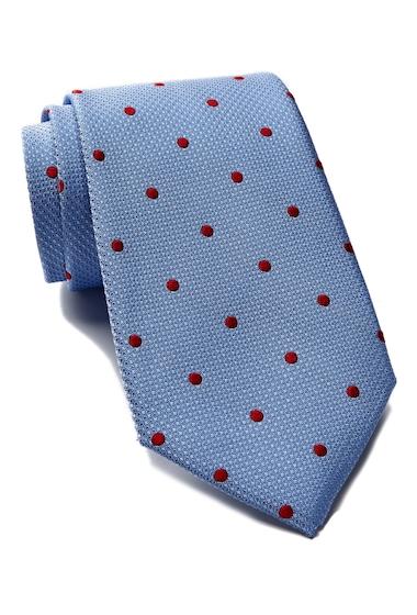 Accesorii Barbati Tommy Hilfiger Silk Contrast Dot Tie LIGHT BLUE