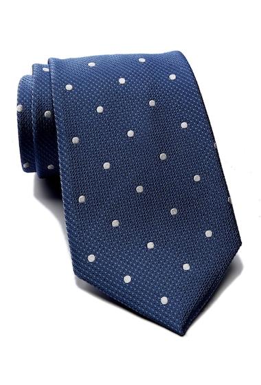 Accesorii Barbati Tommy Hilfiger Silk Contrast Dot Tie NAVY