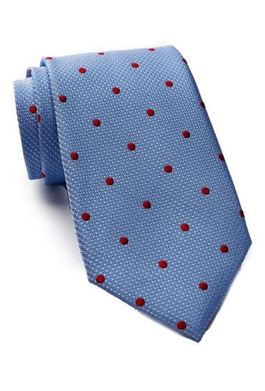 Accesorii Barbati Tommy Hilfiger Silk Contrast Dot XL Tie LIGHT BLUE