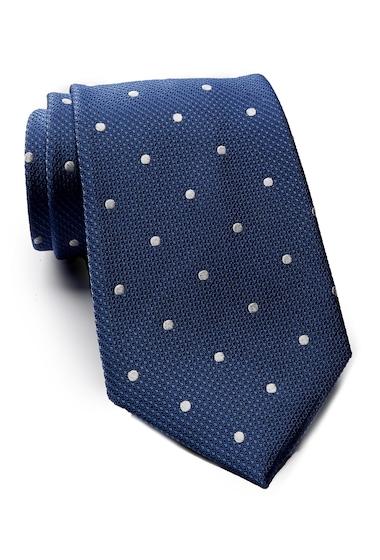 Accesorii Barbati Tommy Hilfiger Silk Contrast Dot XL Tie NAVY