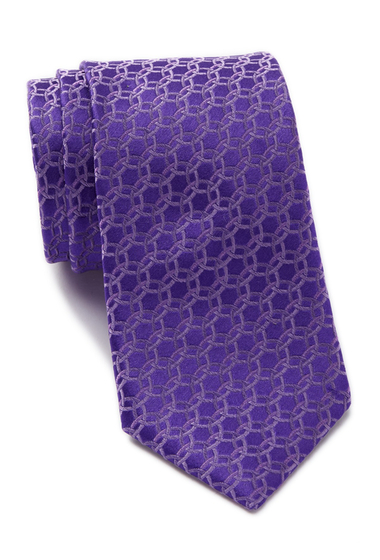 Accesorii Barbati Ted Baker London Circle Links Silk Tie PURPLE