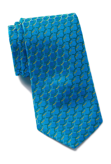 Accesorii Barbati Ted Baker London Circle Links Silk Tie TEAL