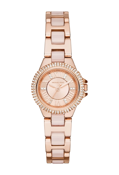 Ceasuri Femei MICHAEL Michael Kors Womens Rose Gold-Tone Petite Camille Watch ROSE GOLD