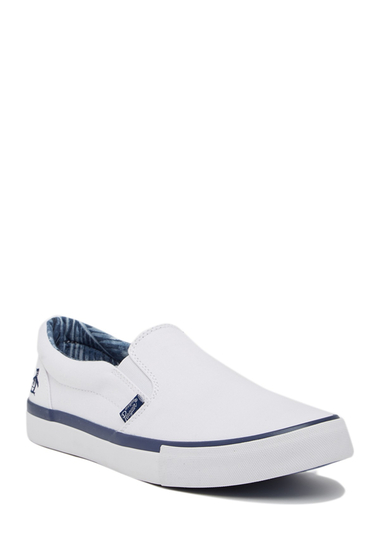 Incaltaminte Barbati Original Penguin Beckett Slip-On Sneaker WHITE NAVY