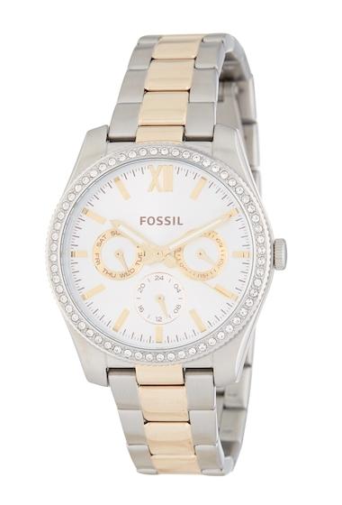 Ceasuri Femei Fossil Womens Scarlette Bracelet Watch 38mm TWO TONE
