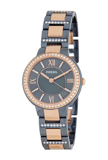 Ceasuri Femei Fossil Womens Virginia Bracelet Watch 30mm BLUE
