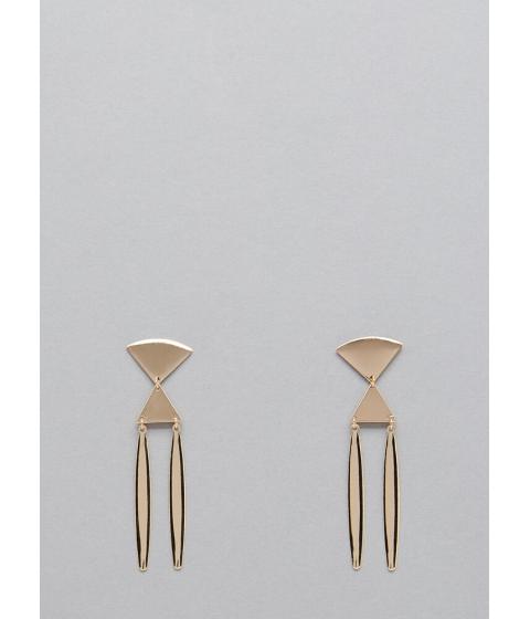 Bijuterii Femei CheapChic Total Ellipse Triangle Earrings Gold