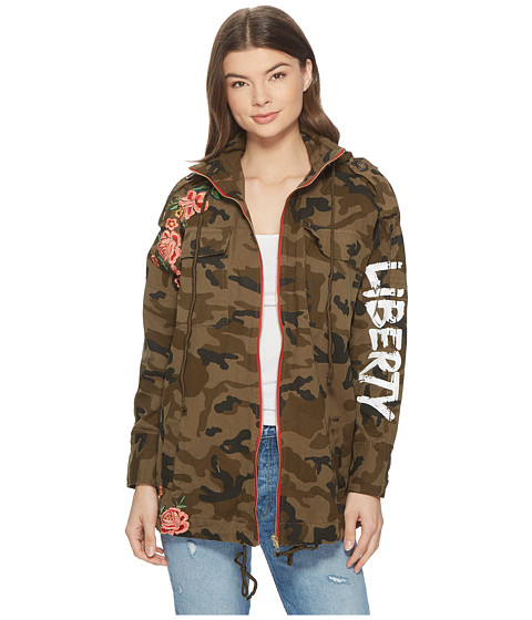 Imbracaminte Femei Romeo Juliet Couture Embroidered Zip-Up Camo Jacket Camo