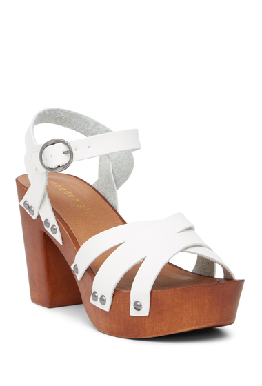 Incaltaminte Femei Madden Girl Nimo Ankle Strap Platform Sandal WHIT PARI