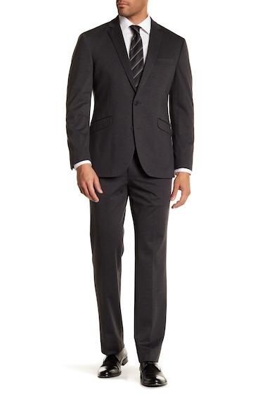 Imbracaminte Barbati Kenneth Cole Reaction Gray Solid Two Button Notch Lapel Techni-Cole Performance Trim Fit Suit CHARCOAL KNIT