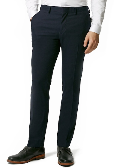 Imbracaminte Barbati TOPMAN Skinny Fit Navy Blue Suit Trousers NAVY BLUE