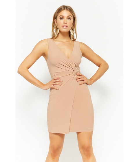 Imbracaminte Femei Forever21 Twist-Front Bodycon Dress NUDE