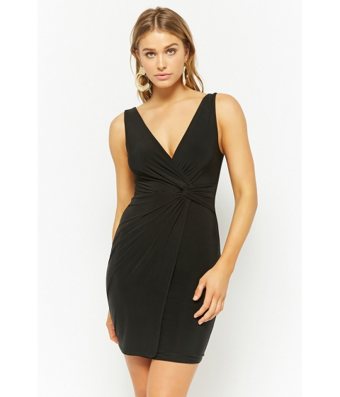 Imbracaminte Femei Forever21 Twist-Front Bodycon Dress BLACK