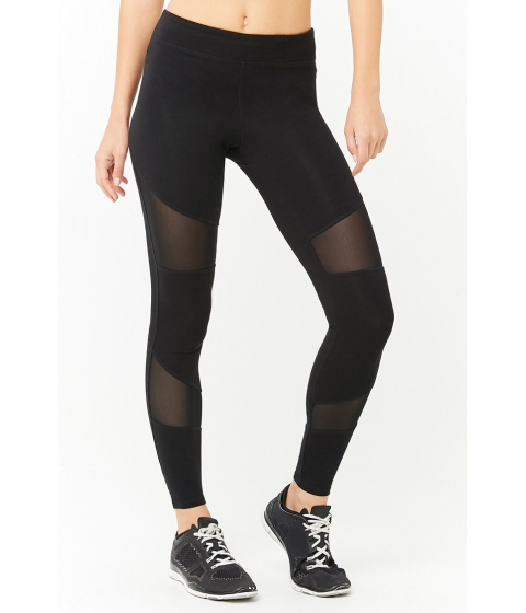 Imbracaminte Femei Forever21 Active Mesh Panel Leggings BLACK