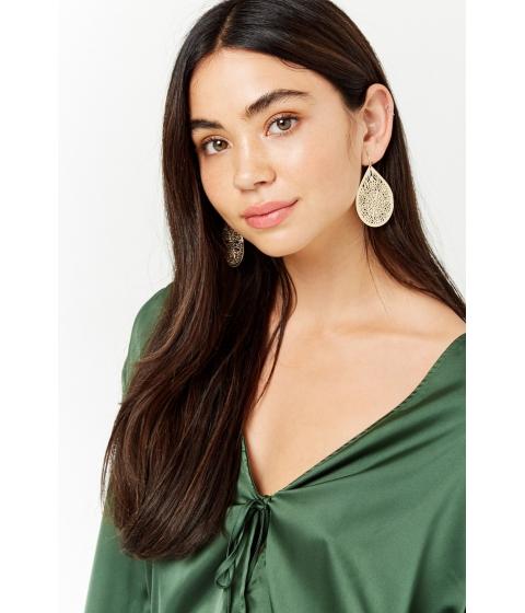 Bijuterii Femei Forever21 Filigree Drop Earrings GOLD