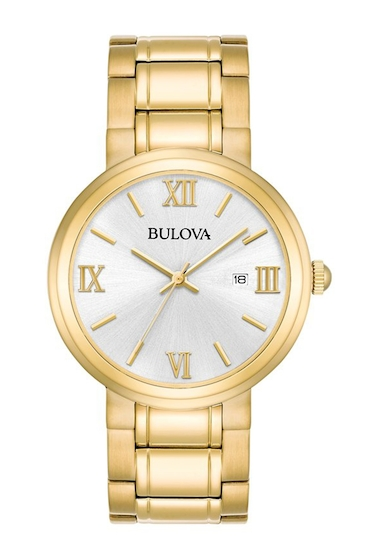 Ceasuri Barbati Bulova Mens Analog Quartz Bracelet Watch 45mm METALLIC