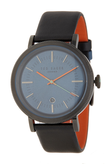 Ceasuri Barbati Ted Baker London Mens Connor Leather Strap Watch 42mm NO COLOR