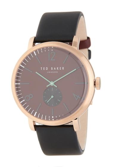Ceasuri Barbati Ted Baker London Mens Oliver Leather Strap Watch 42mm NO COLOR