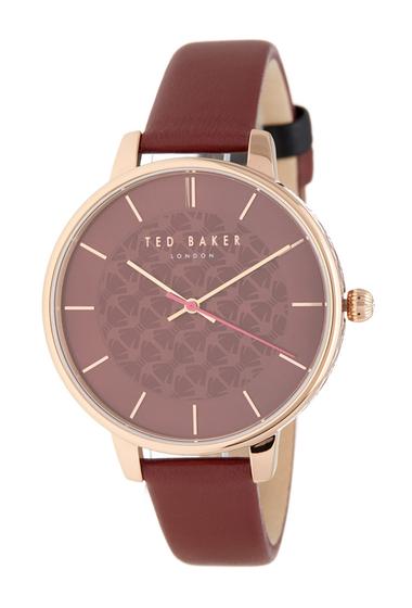 Ceasuri Femei Ted Baker London Womens Kate Leather Strap Watch 38mm NO COLOR