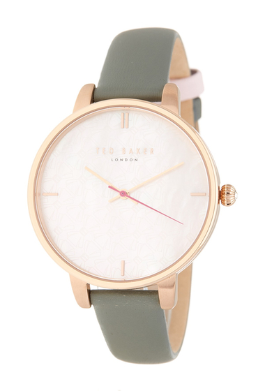 Ceasuri Femei Ted Baker London Womens Kate Leather Strap Watch 38mm NO COLOR