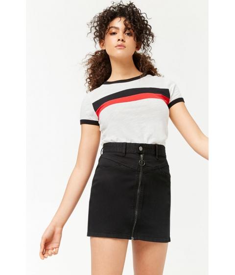 Imbracaminte Femei Forever21 Pull-Ring Mini Skirt BLACK