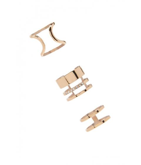 Bijuterii Femei Forever21 Cutout Ring Set GOLD