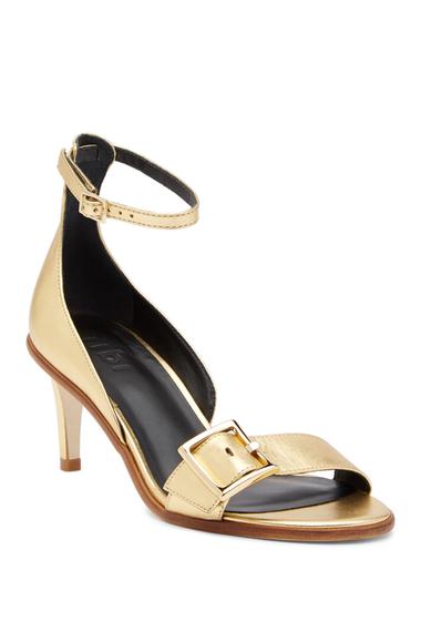 Incaltaminte Femei Tibi Ilana Metallic Nappa Leather Heel Sandal GOLD