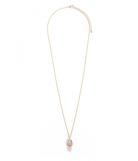 Bijuterii Femei Forever21 Faux Crystal Necklace GOLDPINK