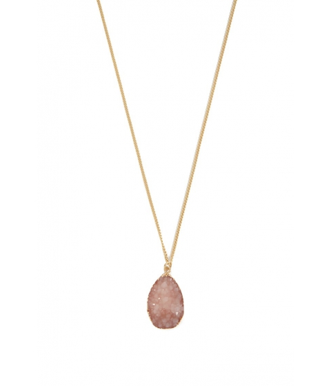 Bijuterii Femei Forever21 Geode Charm Necklace GOLDPINK