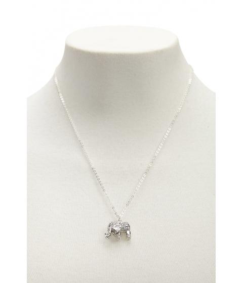 Bijuterii Femei Forever21 Elephant Charm Necklace BSilver