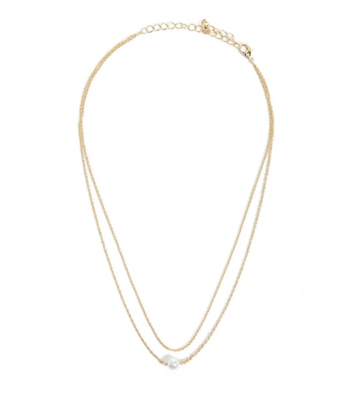 Bijuterii Femei Forever21 Faux Pearl Layered Necklace GOLDCREAM