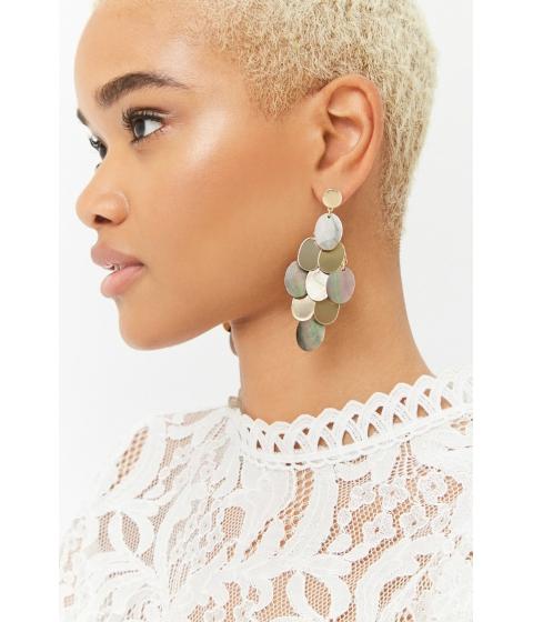 Bijuterii Femei Forever21 Tiered Faux Shell Drop Earrings GOLD