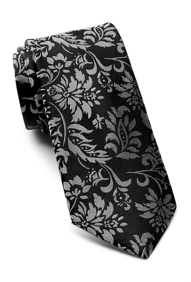Accesorii Barbati Ted Baker London Tonal Floral Silk Tie BLACK
