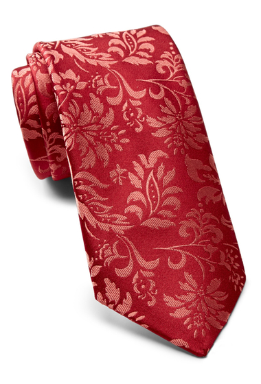 Accesorii Barbati Ted Baker London Tonal Floral Silk Tie RED