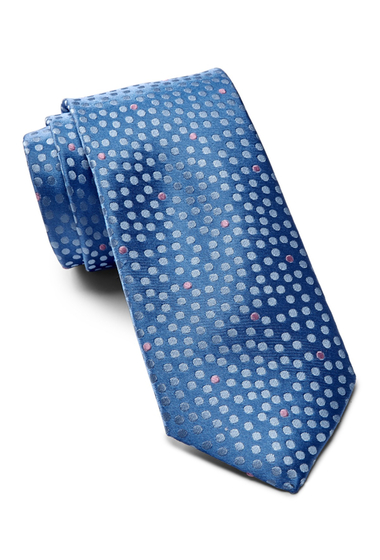 Accesorii Barbati Ted Baker London Tonal Space Dot Silk Tie LIGHT BLUE