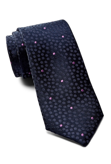 Accesorii Barbati Ted Baker London Tonal Space Dot Silk Tie NAVY