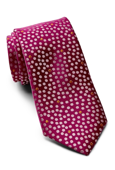 Accesorii Barbati Ted Baker London Tonal Space Dot Silk Tie PINK